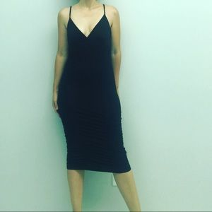 Bebe Ruched Midi Dress ***SOLD OUT STYLE***